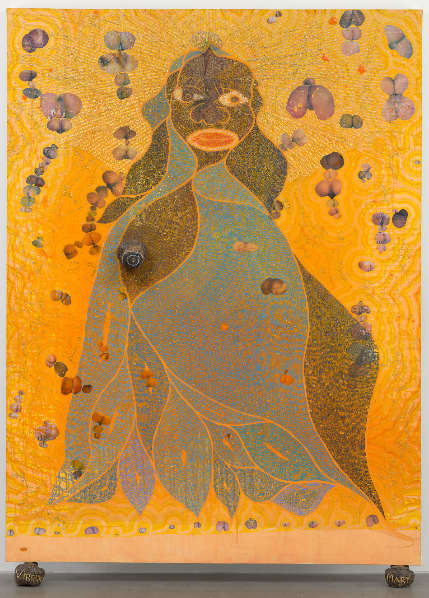 Chris Ofili The holy Virgin mary 1996 (253.4 × 182.2 cm). Gift of Steven and Alexandra Cohen. MoMA