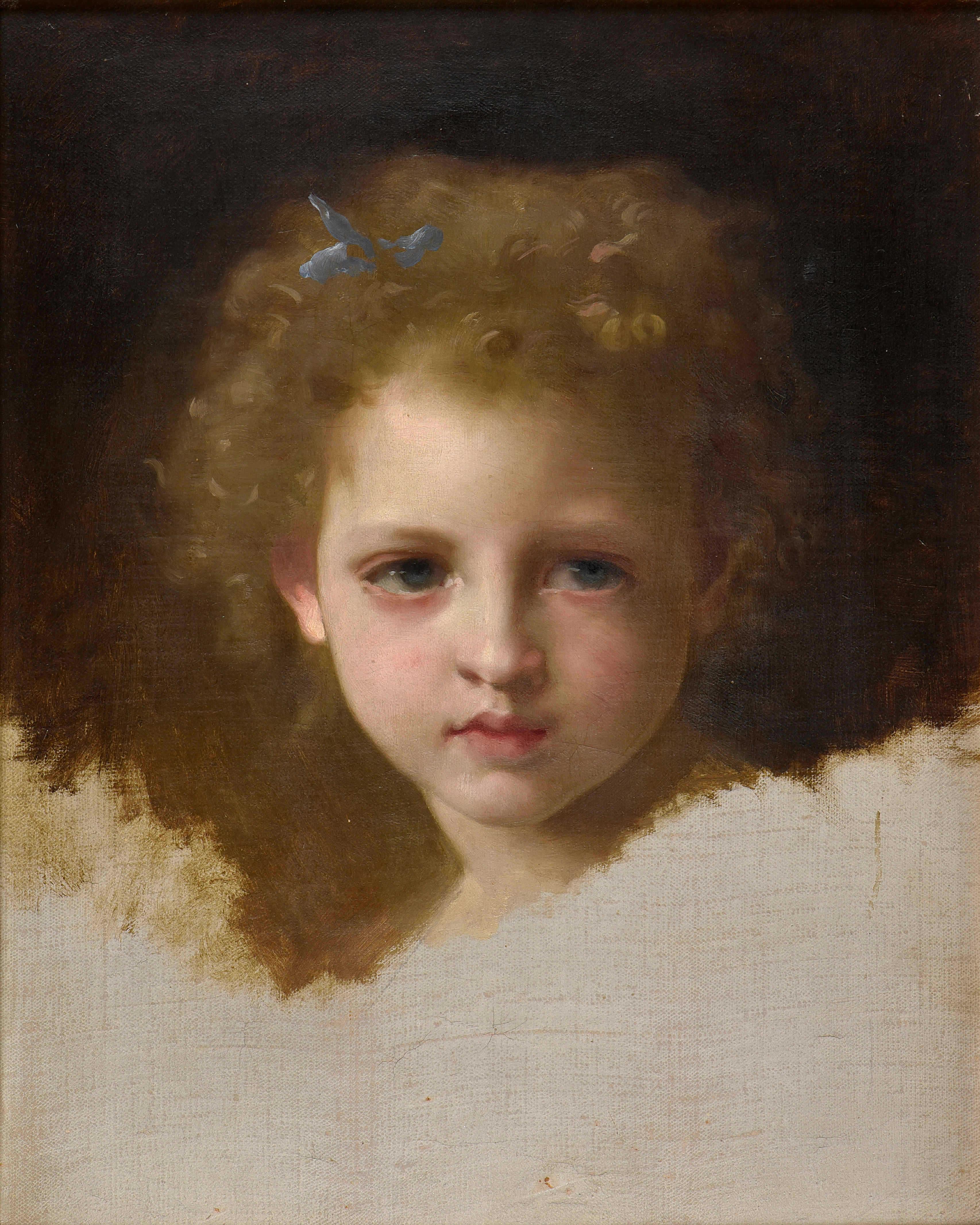 Bouguereau, fillette au ruban bleu vente conan 13-10-19