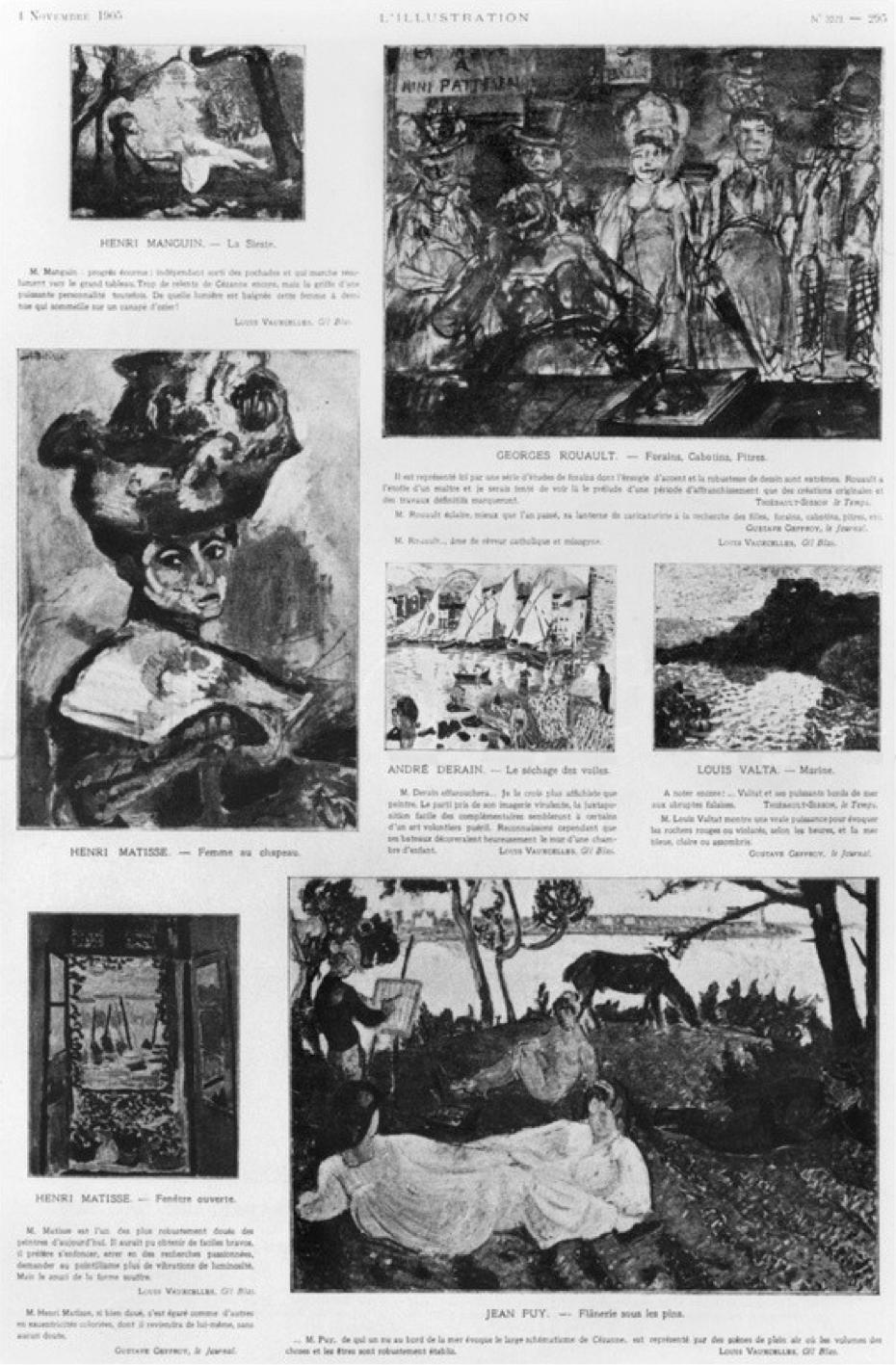 Les_Fauves,_Exhibition_at_the_Salon_D'Automne,_from_L'Illustration,_4_November_1905p.295