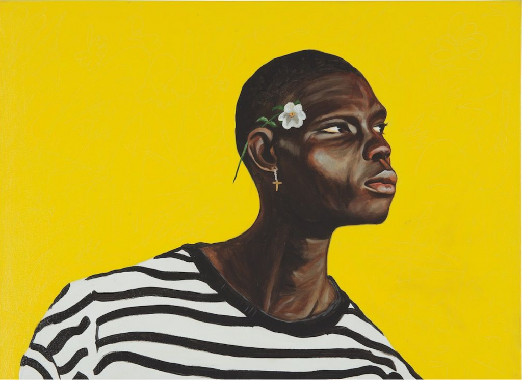 Otis Kwame Kye Quaicoe, Black Stripes on White (detail), 2019.