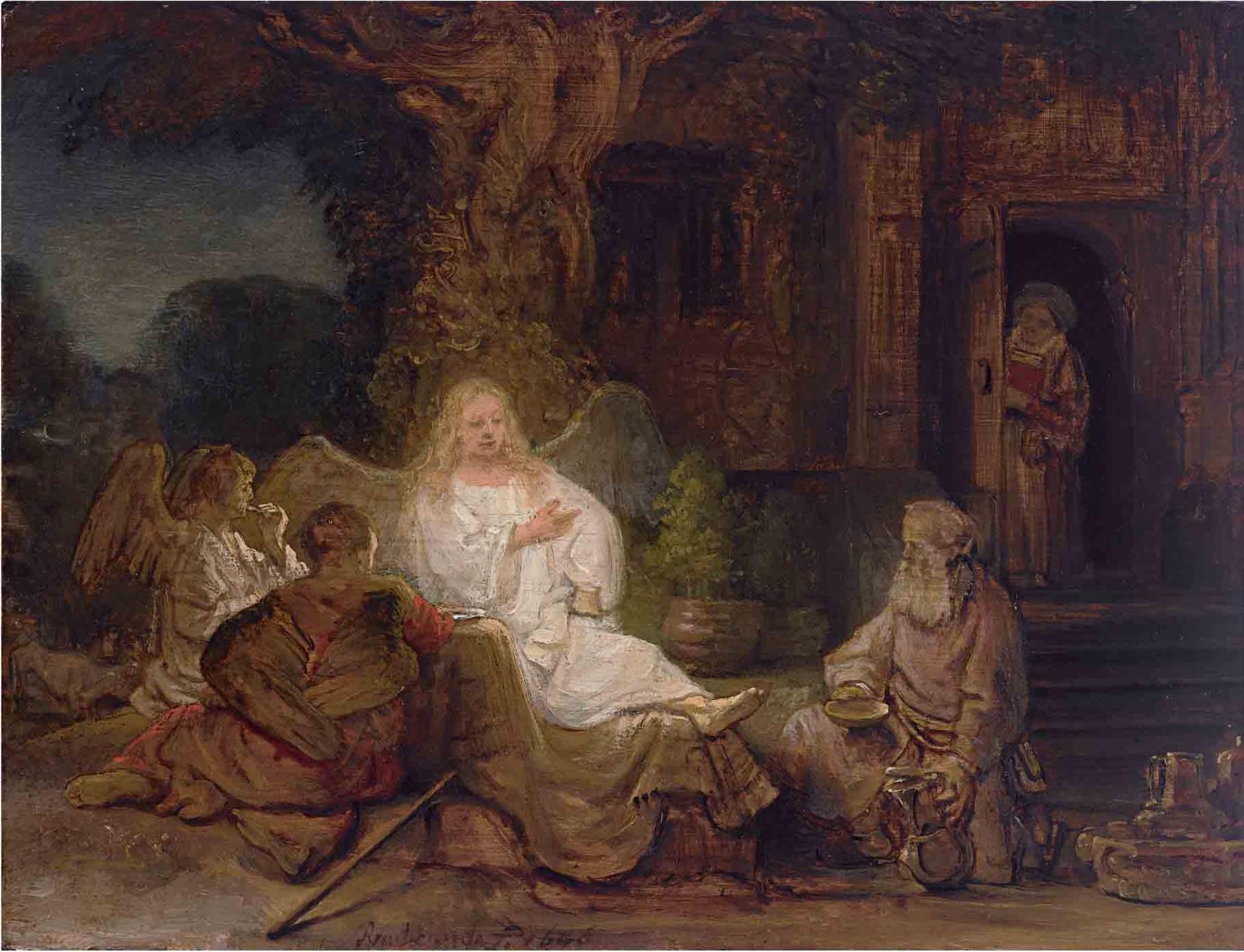 rembrandt abraham & 3 angels