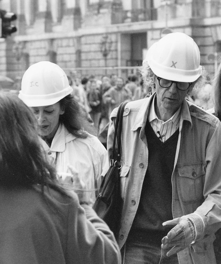 Jeanne-Claude et Christo en 1995. Claude Lebus