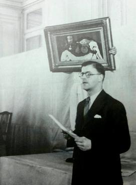 Theodore_Fischer_auctioning_Georges_Braque's_Stilleben_(1924)_in_1939