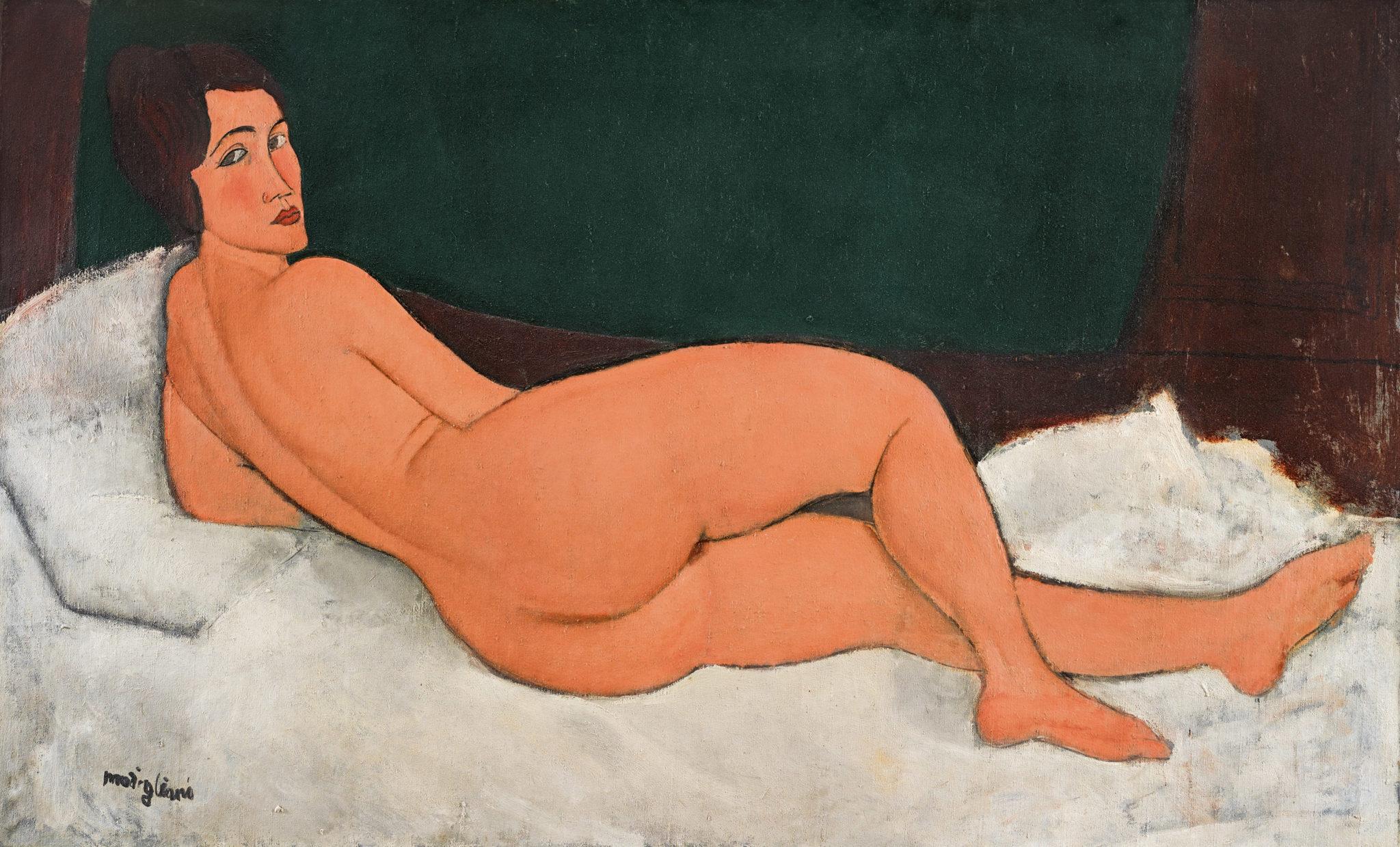 Amedeo Modigliani (1884-1920) Nu couché (sur le côté gauche) (1917)