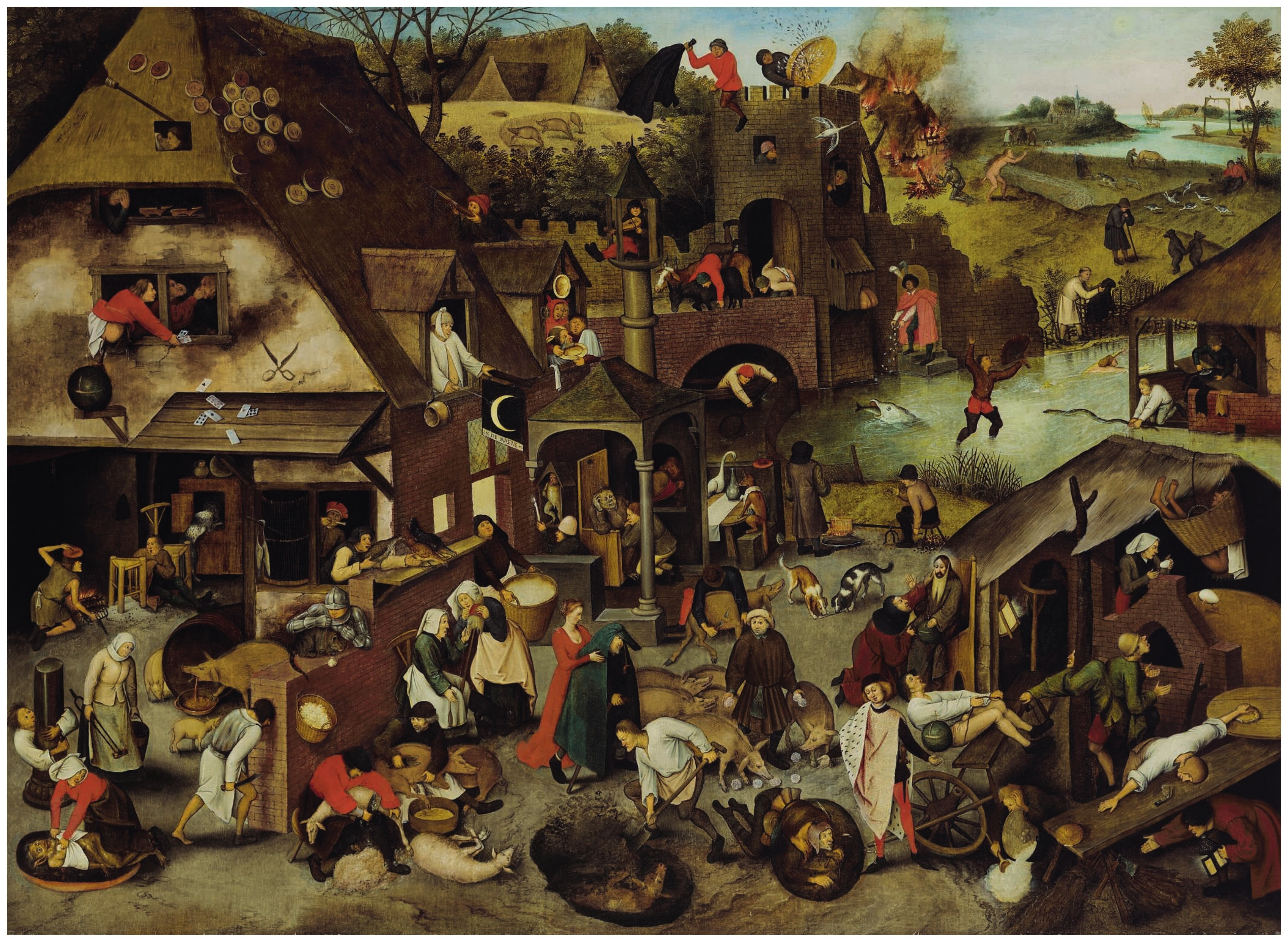 Pieter BRUEGHEL II (c.1564-1637/38) The Netherlandish Proverbs
