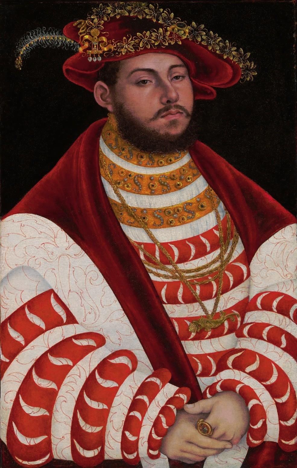 Lucas Cranach I (1472-1553) Portrait of John Frederick I