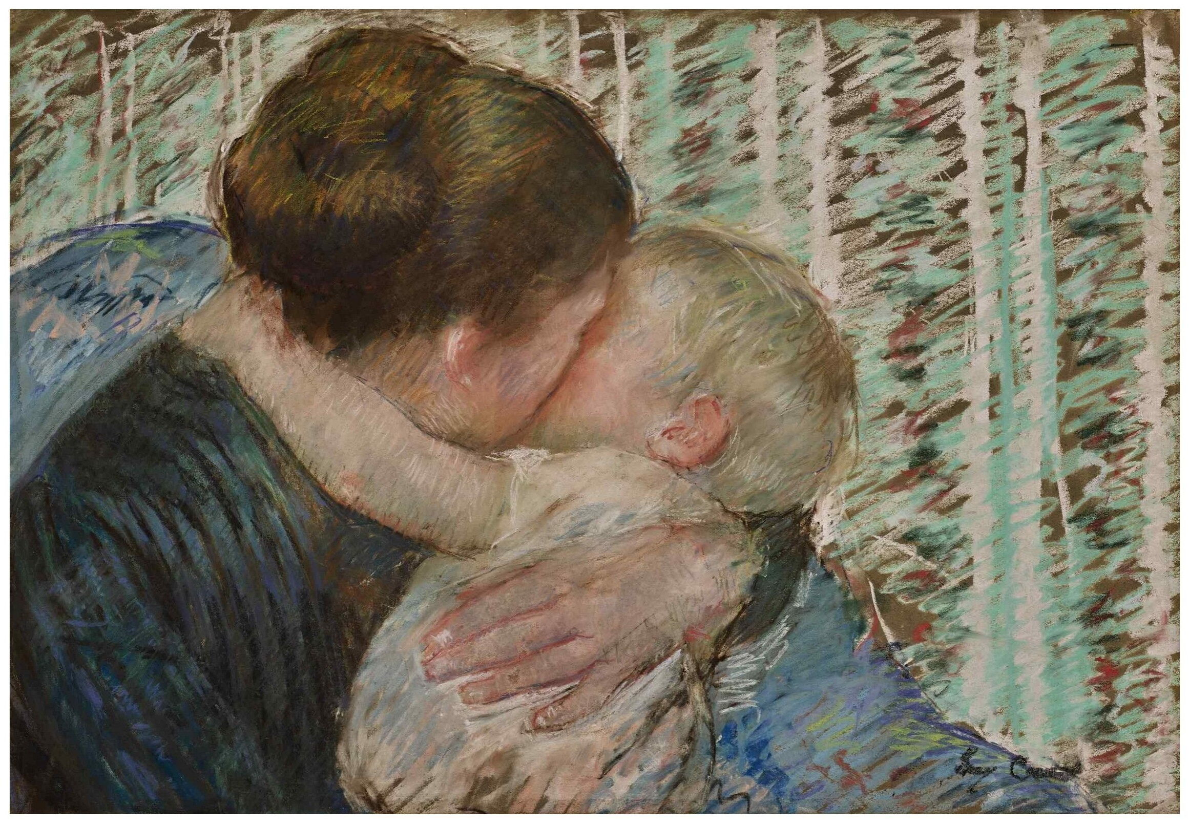 Mary Cassatt (1844-1926) A goodnight hug (1880)