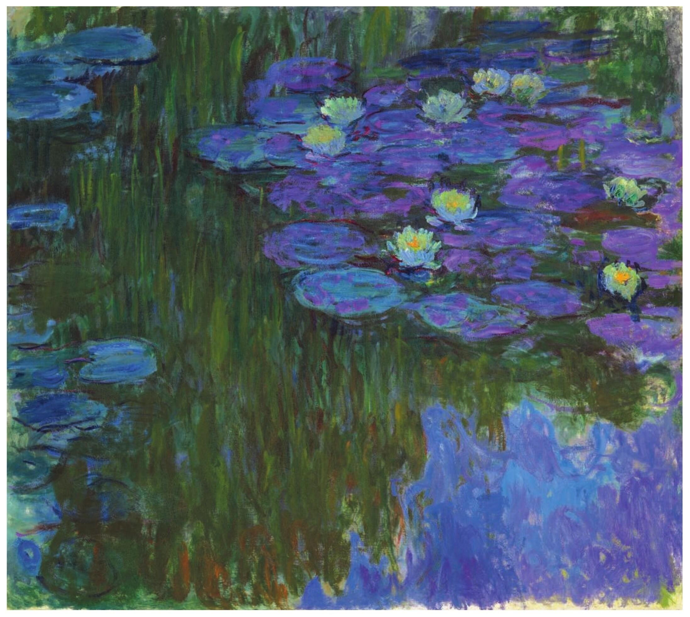 Claude Monet (1840-1926) Water Lilies in bloom (c. 1914-1917)