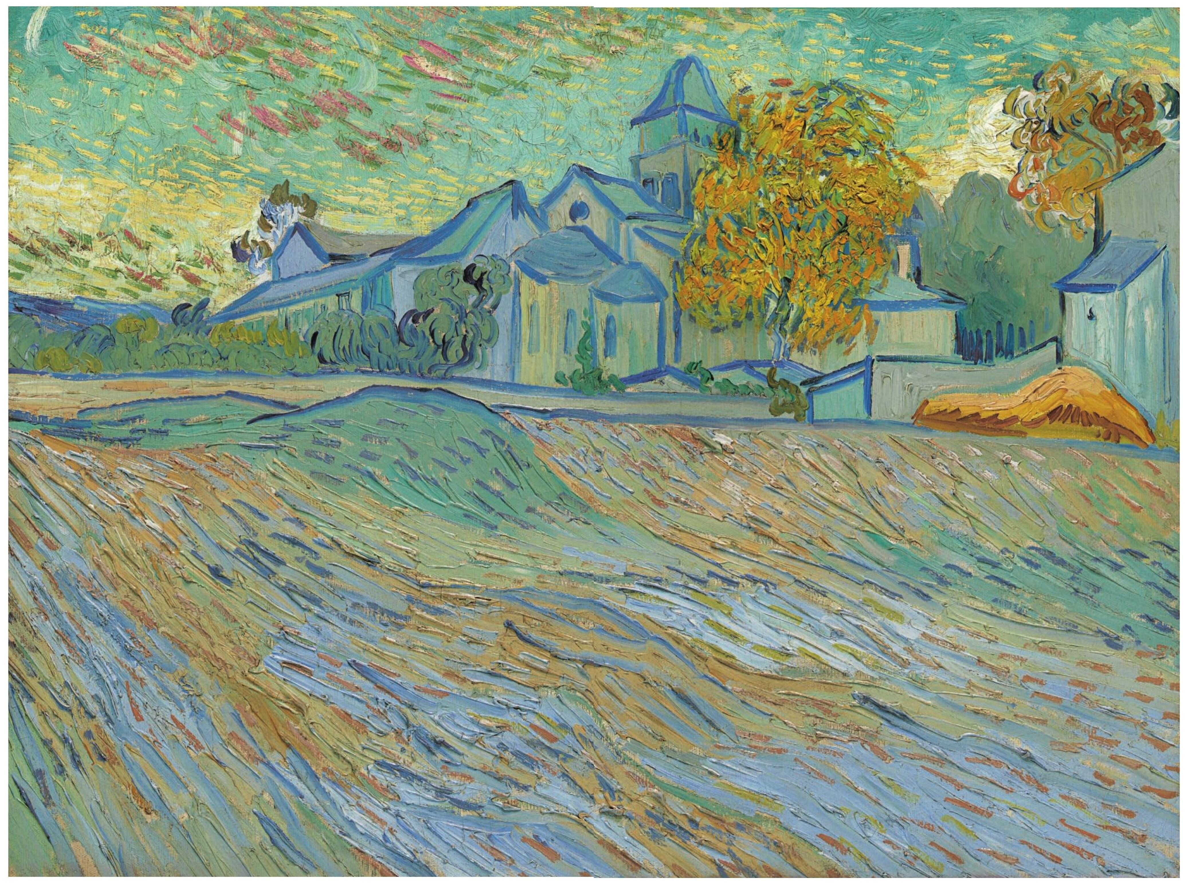 Vincent Van Gogh (1853-1890) Vue de l'asile et de la Chapelle Saint-Paul de Mausole (1889)