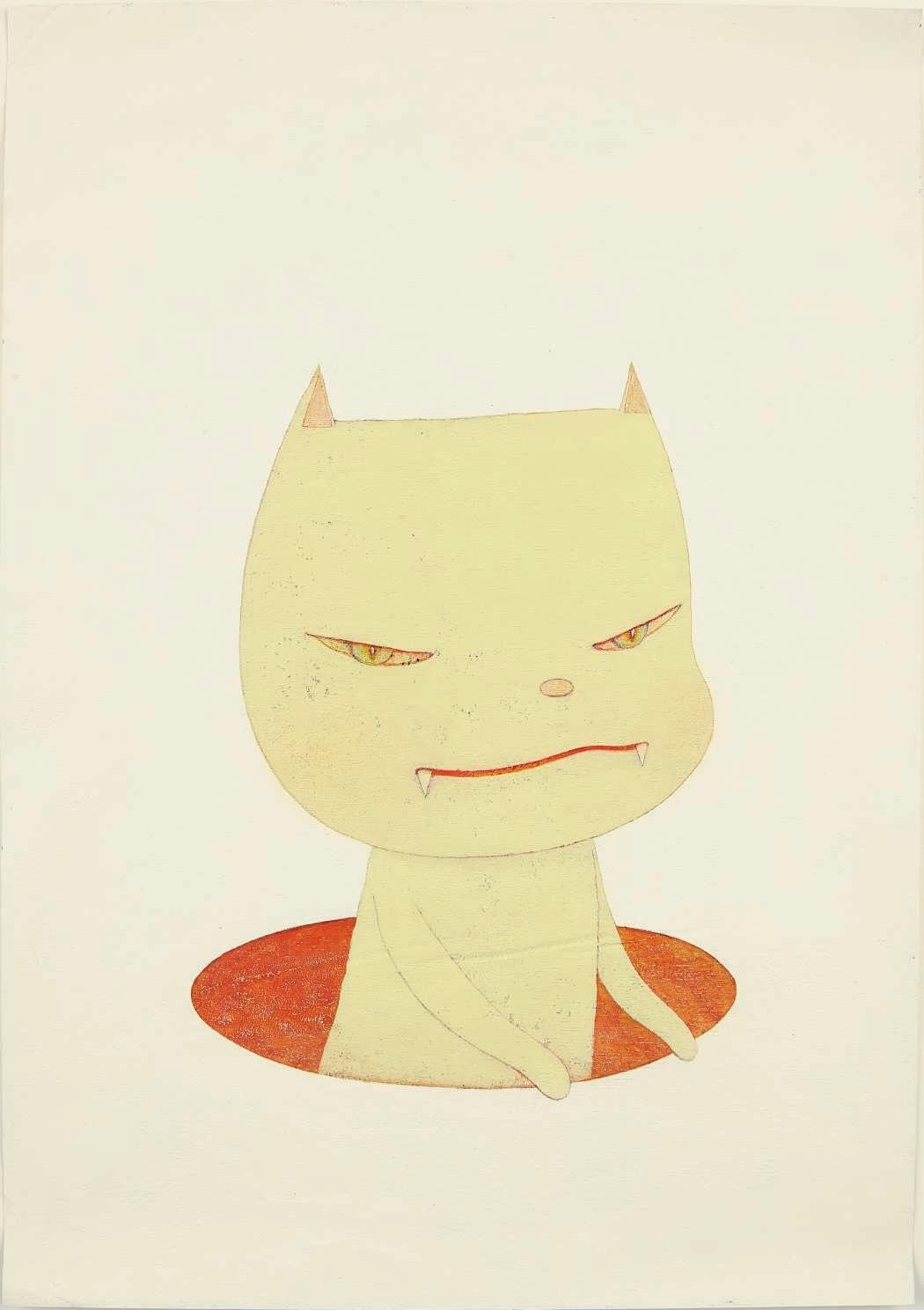 Yoshitomo Nara - White Night Cat (2002)