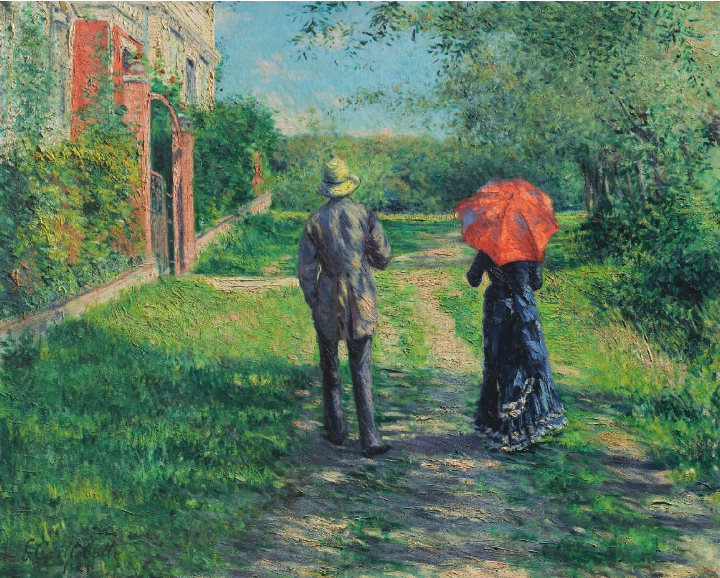 Gustave Caillebotte - Chemin montant (1881)