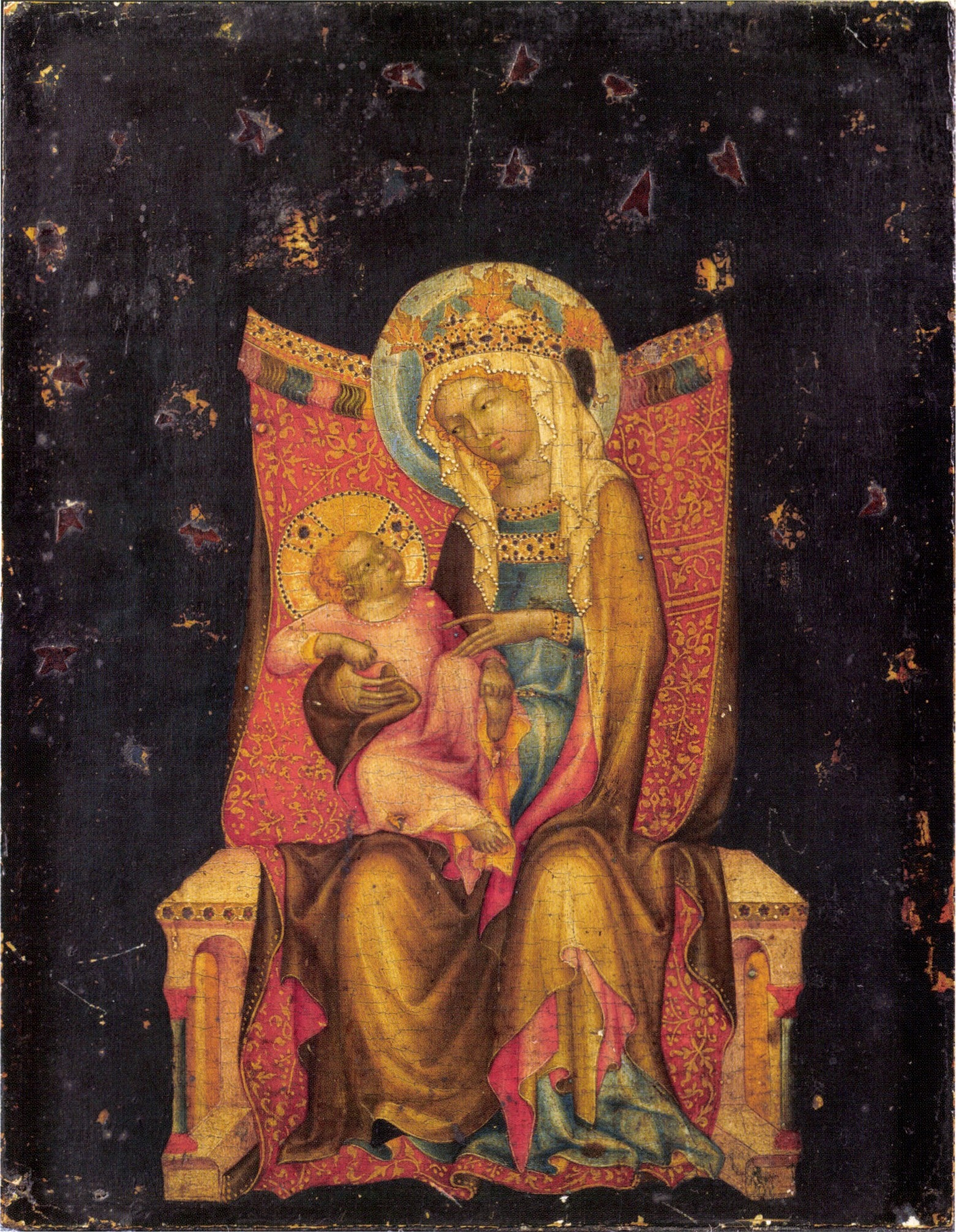 Le Maître de Vyssi Brod - La Vierge et l'Enfant en trône