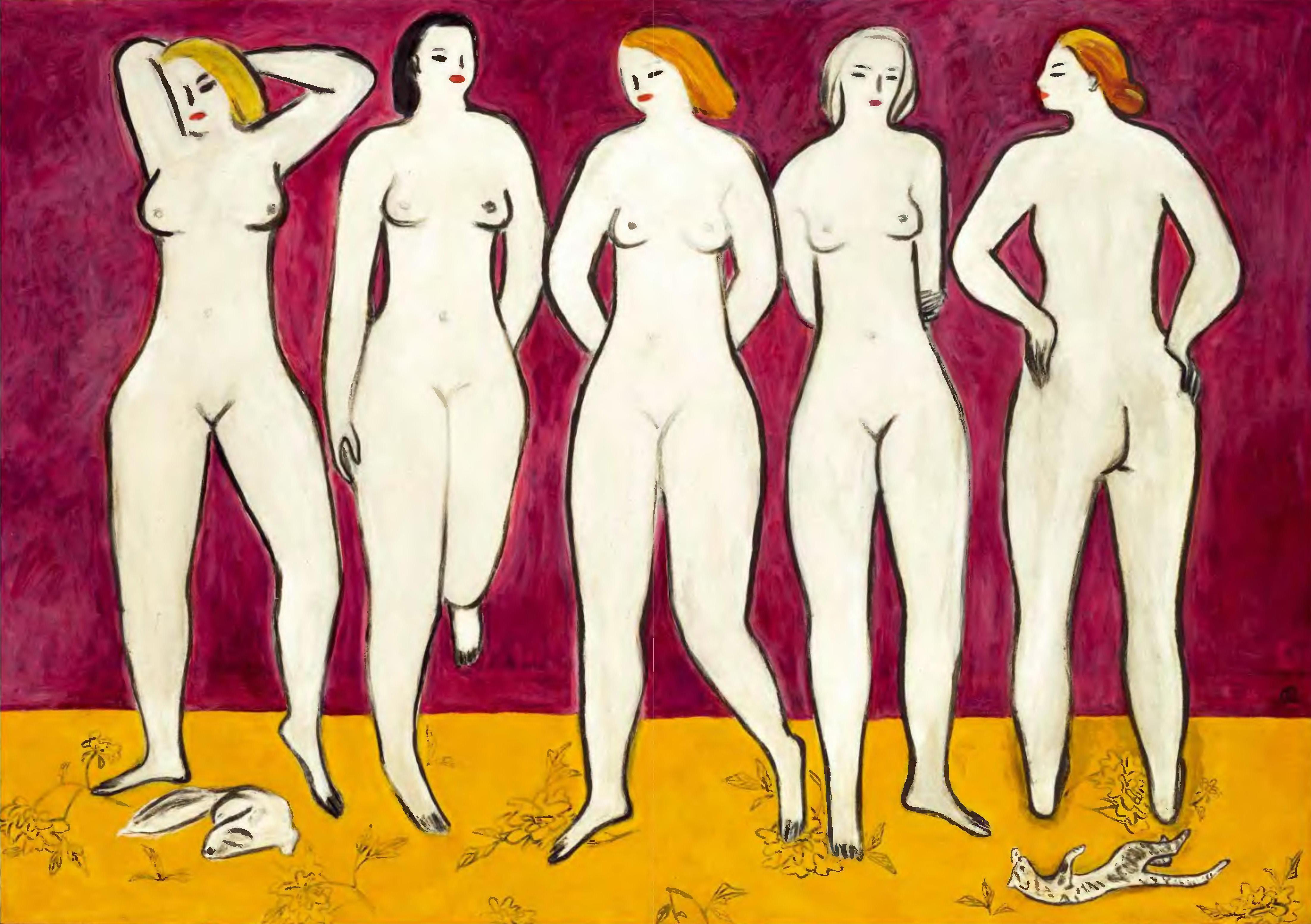 Sanyu - Five Nudes (五裸女) (1950)