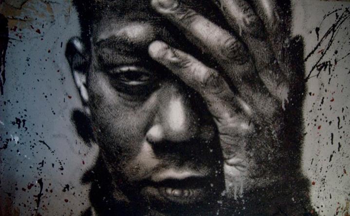 Portrait de Jean-Michel Basquiat à la Demeure du Chaos © thierry Ehrmann, Courtesy Musée l'Organe
