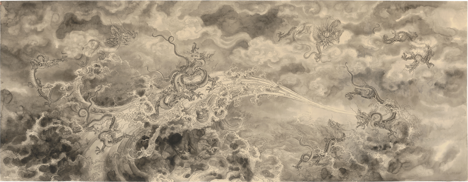 Ren Zhong - Nine dragons and sea, 2018