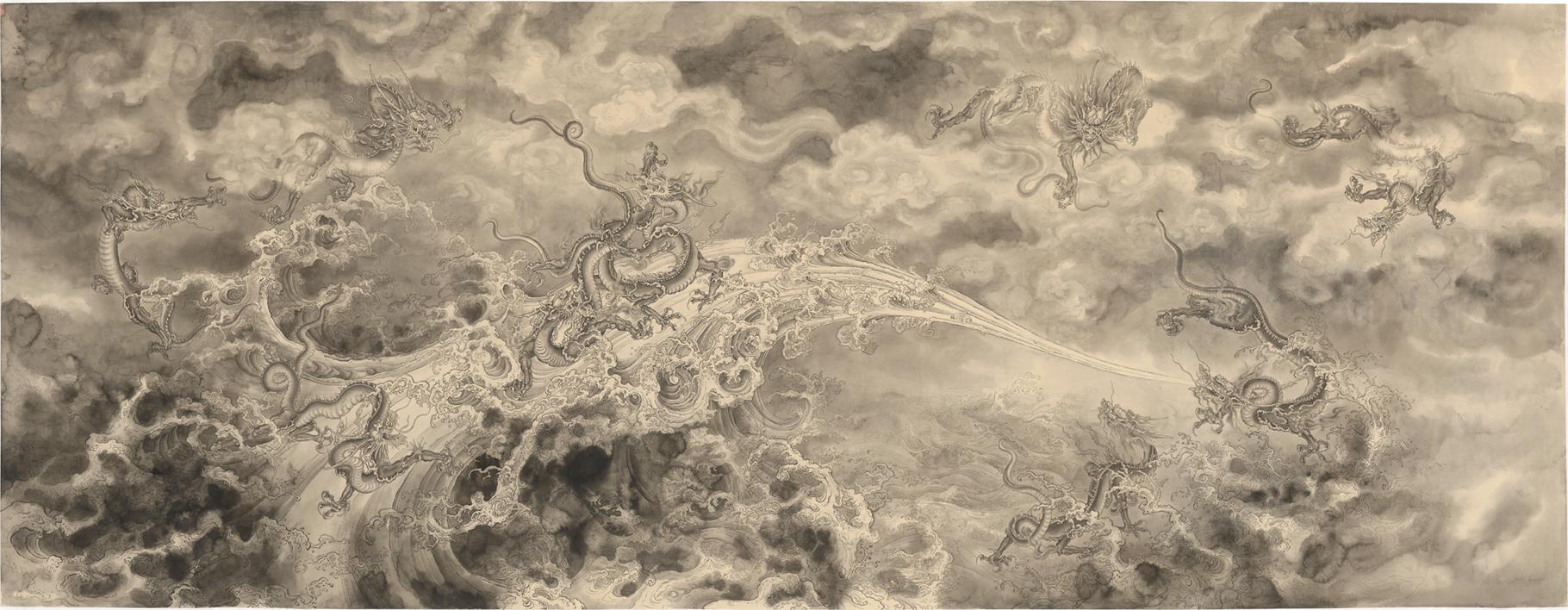 Ren Zhong - Nine dragons and sea, 2018