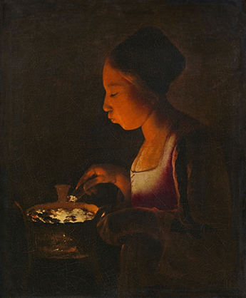 Georges de La Tour - La Fillette au brasier